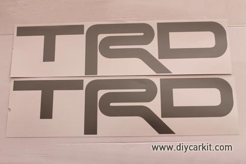 สติ๊กเกอร์ TRD สีเทา