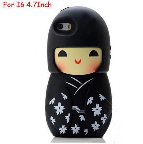 เคส iphone 6 ขนาด 4.7 นิ้ว เคสกิโมโน ตุ๊กตา จากประเทศญี่ปุ่น เคสซิโลโคน อย่างดี ตุ๊กตาใส่ชุดกิโมโน สีดำ 546970_7