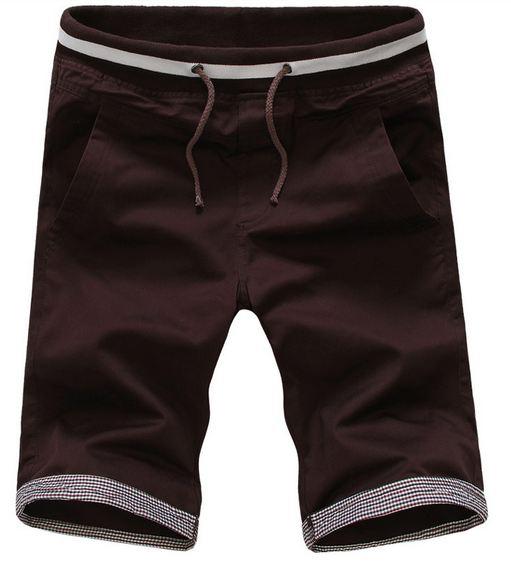 กางเกงขาสั้นผู้ชาย กางเกงขาสามส่วน กางเกงแฟชั่น สีน้ำตาลเข้ม ใส่สบาย กางเกงวัยรุ่น เท่ ๆ เอวยางยืด ใส่เที่ยว ใส่อยู่บ้าน ผ้า Cotton แบบสวย มีสไตล์ 641470_4