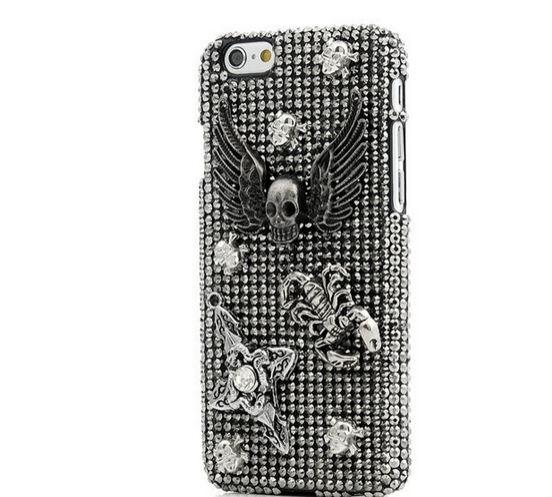 เคส iphone 6 เคส Diy แนว Hard core ฮาร์ดร็อค คริสตัล แมงป่อง หัวกะโหลก ติดปีก เคส แบบเท่ ๆ แนว ๆ ร็อคเกอร์ 403938_3