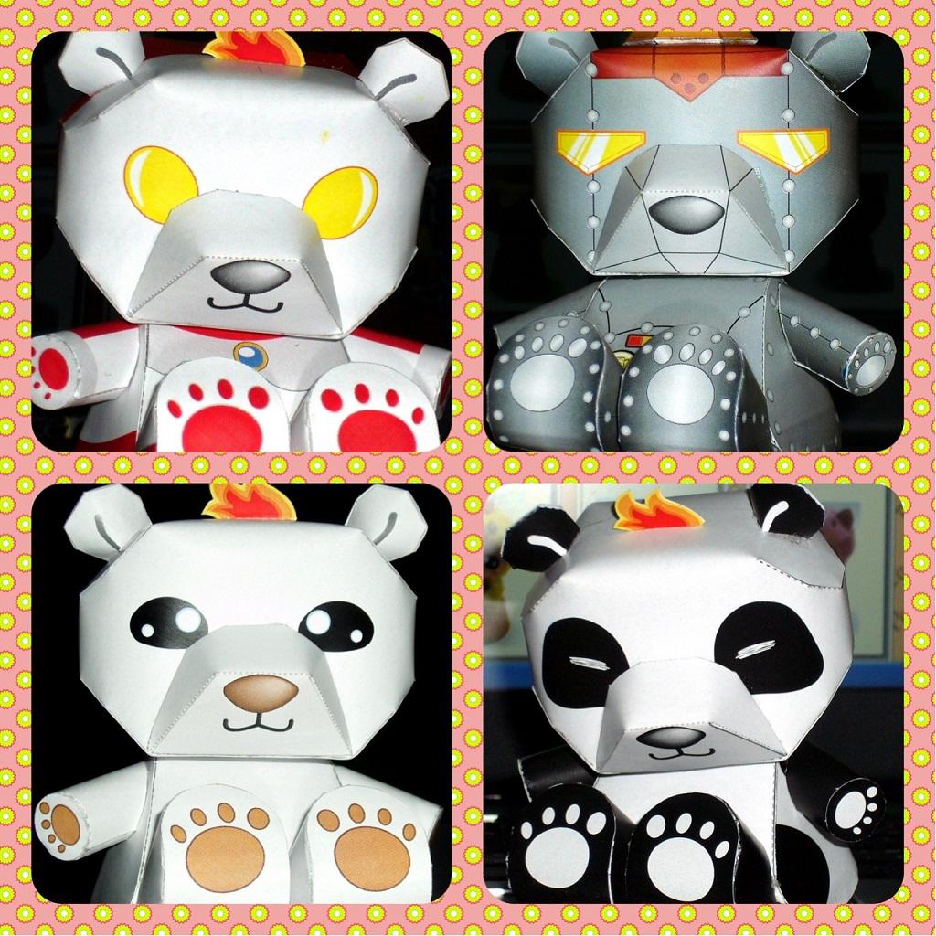 ชุดหมี 4 ตัว