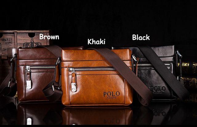 กระเป๋าสะพายข้าง ผู้ชาย polo แนวนอน ขนาดกลาง กระเป๋าหนัง pu แบบคลาสสิค มาใหม่ สีน้ำตาลอ่อน น้ำตาลเข้ม สีดำ ดีไซน์ ซิปรูด 353390