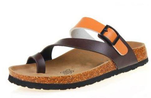 รองเท้าแฟชั่น ผู้หญิง ผู้ชาย รองเท้าแตะ แบบสวม นวัตกรรมใหม่ พืั้นบน จากไม้ค๊อก แบบสวมนิ้วโป้ง รองเท้าใส่เที่ยว 809815
