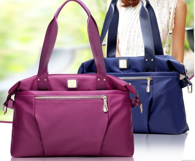 กระเป๋าสะพาย แฟชั่น กระเป๋าสะพายข้าง กระเป๋าถือ ผ้าไนลอน กระเป๋าสะพายทำงาน สีพื้น ใส่กระดาษ A4 ได้ กันน้ำได้ 995544