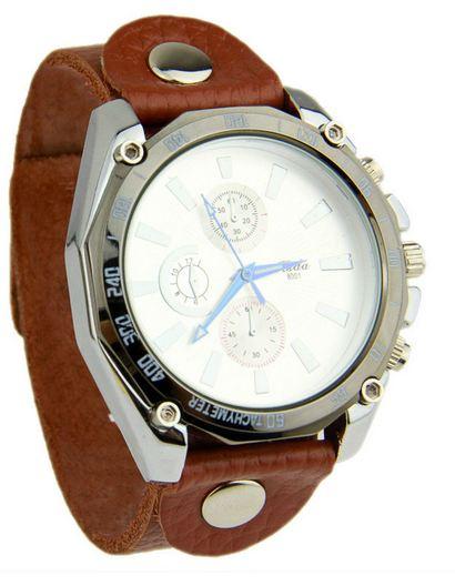 นาฬิกาข้อมือ ผู้หญิง ผู้ชาย ใส่ได้ นาฬิกา สายหนังแท้ สีน้ำตาล หน้าปัดคลาสสิค สีขาว ผสมผสาน กับ สายหนัง อย่างลงตัว ของขวัญสุดหรู 306884_4