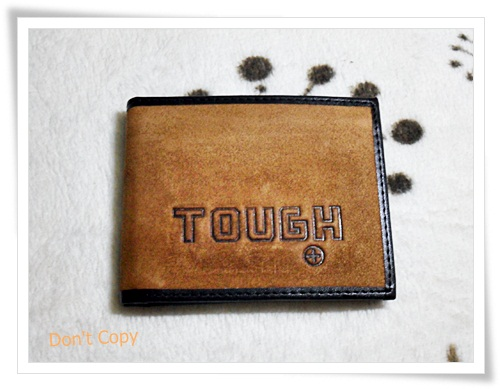 กระเป๋าสตางค์หนังแท้ Tough หนังกลับสีน้ำตาล A2003
