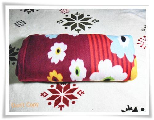 ผ้าห่มเนื้อนุ่ม สีแดง ลายดอกไม้