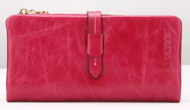 กระเป๋าสตางค์หนังแท้ กระเป๋าสตางค์ผู้หญิง ใบยาว หนังมันเงา จุบัตรได้เยอะ เสริมความจุด้วย กระเป๋าใส่บัตร ถอดเข้าออกได้ สีชมพูเข้ม no 606452_4