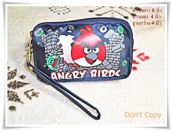 กระเป๋าซิป 3 ซิป เกมส์ angry bird นกโกรธ
