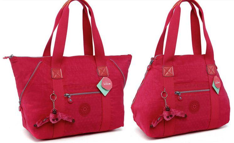 กระเป๋าถือ กระเป๋าสะพาย ผู้หญิง กระเป๋าผ้าไนลอน แบบปากกว้าง ปรับเปลี่ยนสไตล์ ได้ 2 แบบ ใส่เสื้อผ้า ใส่หนังสือเรียน กระเป๋าไนลอน กระเป๋าวัยรุ่น 932269