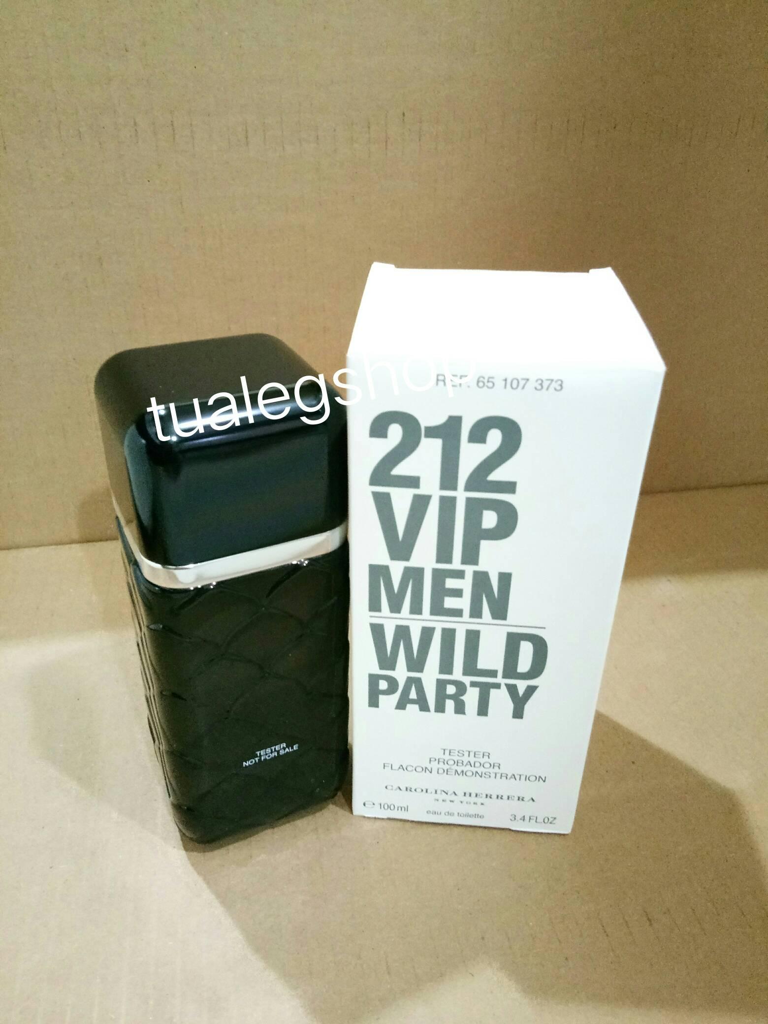 Carolina Herrera 212 VIP Men Wild Party EDT 100 ml.(tester box)