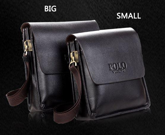 กระเป๋าสะพายข้างผู้ชาย กระเป๋าสะพายหนังวัวแท้ polo สีน้ำตาลเข้ม Classic มี 2 ขนาด กระเป๋าหนังแท้ ใช้งานทนทานค่ะ no 705334_1