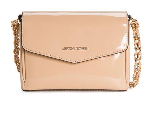 กระเป๋าสะพายข้าง ผู้หญิง กระเป๋า Mango หนังแก้ว เงา สีเบจ ครีม สายโซ่ ใส่กระเป๋าสตางค์ โทรศัพท์ กระเป๋าออกงาน ราตรี สีออก ครีม ๆ 912520_1