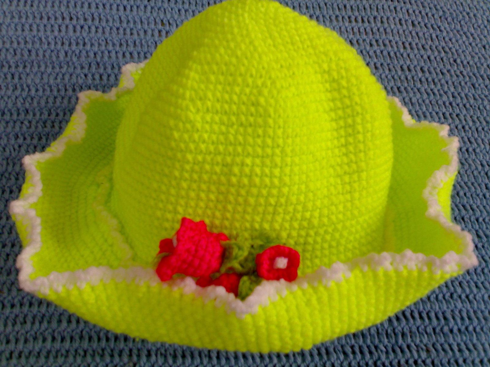 หมวกโครเชต์เขียว