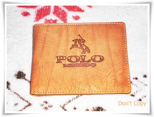 กระเป๋าสตางค์ หนังแท้ ยี่ห้อ Polo