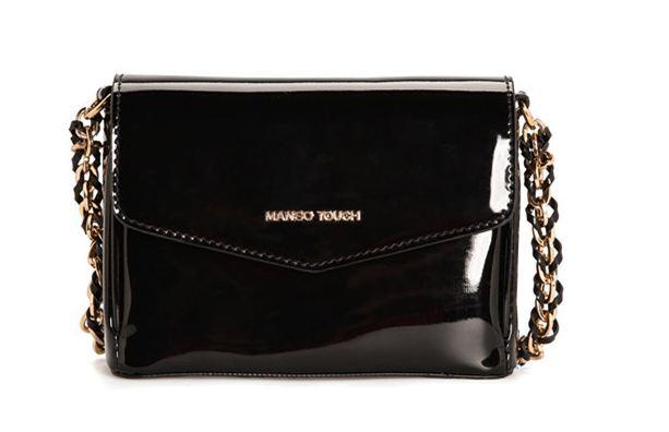 กระเป๋าสะพายข้าง ผู้หญิง กระเป๋า Mango หนังแก้ว เงา สวย สีดำ กระเป๋าสะพายข้าง ออกงาน ราตรี เข้ากับ ชุดเดรส ทุกสีเลยนะคะ 912520