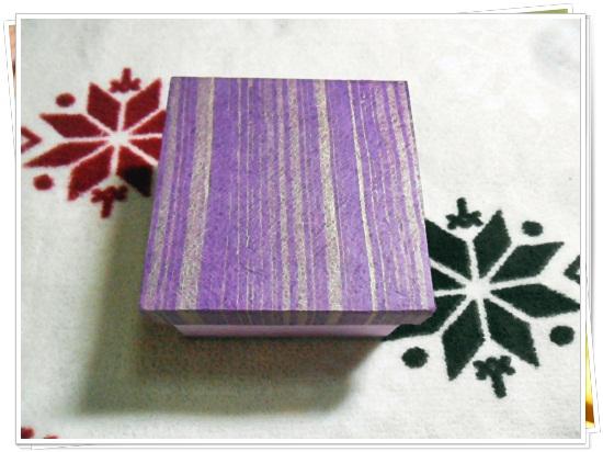 กล่องกระดาษสา หน้าทึบ สีม่วง
