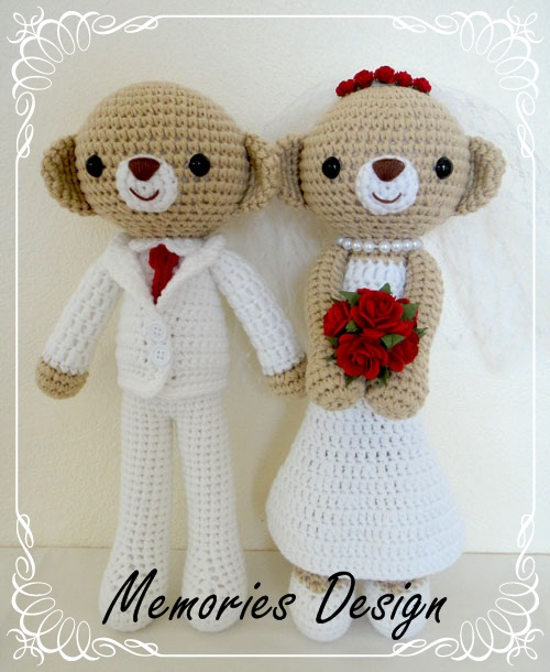 "Wedding Bear 3 (15"")"