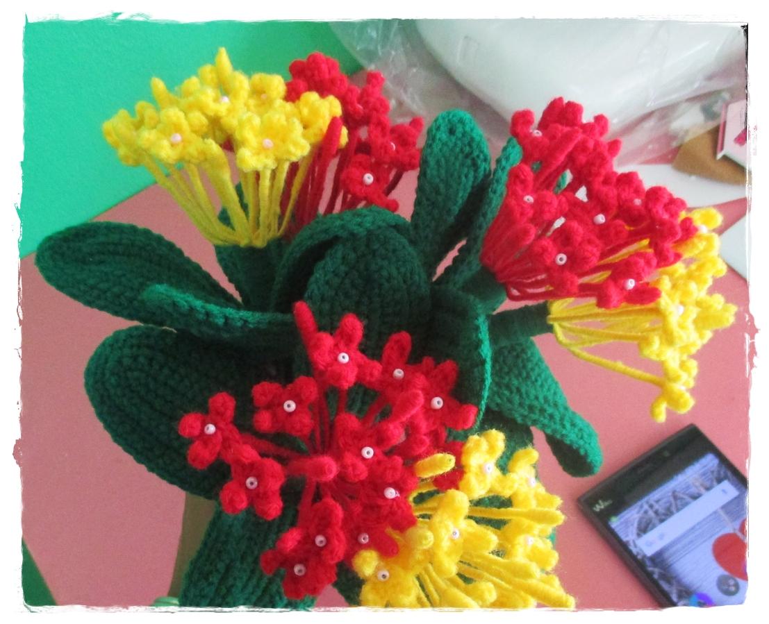 ดอกเข็มถักไหมพรม