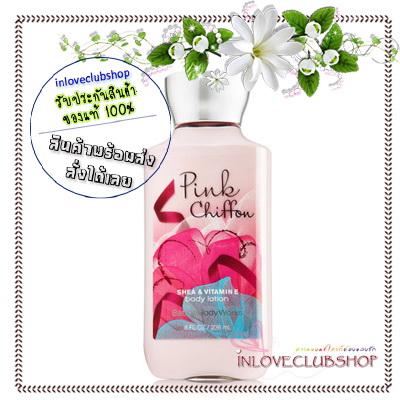 Bath & Body Works / Body Lotion 236 ml. (Pink Chiffon) *ขายดี