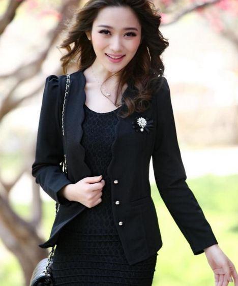 เสื้อคลุม เสื้อ Jacket เสื้อสูท ผู้หญิง สีดำ ใส่ออกงาน เสื้อคลุม แบบเสื้อตัด มีดีไซน์ สำหรับ สาวออฟฟิต ดูดี เป็นผู้ใหญ่ เสื้อคลุม ผู้ใหญ่ มีสไตล์ 584549