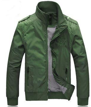 เสื้อ แจ็คเก็ต ผู้ชายแขนยาว เสื้อกันลม สีเขียว ผลไม้ Olive สีหายาก ใส่สวย ผ้า Nylon,Polyester 2 ชั้น Jacket ขี่มอเตอร์ไซค์ แบบสวย ๆ 580383_2