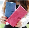 กระเป๋าสตางค์ผู้หญิง ใบยาว กระเป๋าสตางค์ แฟชั่น หนังนิ่ม มี 2 พับ ดีไซน์ หวาน ๆ ใส่บัตรได้เยอะ มีช่องซิป สายรัดกระเป๋า มีหลายสี มากค่ะ 546248