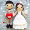 ตุ๊กตาถัก คนแต่งงาน 12 นิ้ว