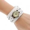 นาฬิกาข้อมือผู้หญิง นาฬิกาข้อมือ สายหนังแท้ ถัก สไตล์วินเทจ งาน Hand Made เส้นใหญ่ มีน้ำตาลเข้ม และ สีขาว นาฬิกาทอม สาวเท่ สวยสุด ๆ 789886