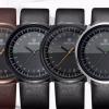 นาฬิกาข้อมือ ผู้ชาย ผู้หญิง ใส่ได้ นาฬิกาข้อมือ สายหนัง หน้าปัดกลม หน้าปัดบางเพียง 6.2 mm นาฬิกาหน้าปัด 24 ชั่วโมง ดีไซน์หรู 876905