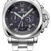นาฬิกาข้อมือ ผู้ชาย สาย Stainless สีเงิน หน้าปัดดำ มีระบบ วันที่ แบบสวย คลาสสิค ยอดนิยม หรูหรา มีระดับ ใส่ทำงาน ของขวัญให้แฟน สุดหรู 504854_4