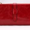 กระเป๋าสตางค์หนังแท้ กระเป๋าสตางค์ผู้หญิง ใบยาว หนังมันเงา จุบัตรได้เยอะ เสริมความจุด้วย กระเป๋าใส่บัตร ถอดเข้าออกได้ สีแดง no 606452_9