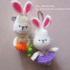 กระต่ายถักคู่รัก สีม่วง