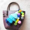 กระเป๋ากระจูดสาน แถมที่แขวนกระเป๋า ขนาด 8*8*5*13 นิ้ว basket weave bags