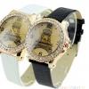 นาฬิกาข้อมือผู้หญิง สายหนัง หน้าปัด รูป หอไอเฟล ล้อมเพชร คริสตัล สินค้าราคาพิเศษ มี 2 สี สีขาว และ สีดำ 405351