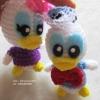 ตุ๊กตาโดนัลดักถักโครเชต์ ขนาด 4 นิ้ว Donald duck amigurumi crochet doll