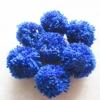 ปอมปอมไหมพรมสีน้ำเงิน ขนาด 2 นิ้ว pompoms crochet