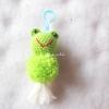 พวงกุญแจปอมปอมเคโระ pompoms keroro crochet keychain