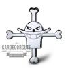 โลโก้สติกเกอร์โลหะหัวกะโหลก วันพีช Jolly Roger - One piece Skull 3D Metal plate
