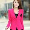 เสื้อคลุม เสื้อ Jacket เสื้อสูท ผู้หญิง สีชมพูเข้ม กุหลาบ ดีไซน์ ขอบเสื้อโค้ง เสื้อสูทผู้หญิง ใส่ออกงาน ใส่ทำงาน ติดต่องาน แบบผู้ใหญ่ 584549_3