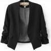 เสื้อสูทผู้หญิง ใส่สมัครงาน ทำงาน ออฟฟิต เสื้อสูท แบบ ตัวสั้น สีดำ มีกระเป๋า 2 ข้าง เสื้อคลุม แบบสูท ใส่ในออฟฟิต ราคาถูก 171361