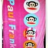 ผ้าห่มกำมะหยี่ เนื้อนุ่ม 5 ฟุต ลายลิง Paul Frank สีชมพู