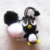พวงกุญแจตุ๊กตาแบดแบดมารุปอมปอม dolls pom pom amigurumi crochet keychain