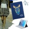 เคส iPad air 1 เคสยีนส์ ดีไซน์ จากประเทศ อังกฤษ เคสแบบสวย ๆ มีสไตล์ สียีนส์เข้ม ปักลาย ม้าลาย London เคสเปิดปิด อัตโนมัติ 396281