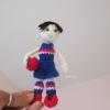 ตุ๊กตาถักนักรักบี้ ขนาด 5 นิ้ว rugby doll amigurumi crochet 5 inches
