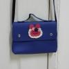กระเป๋าสะพายข้าง สายยาว สีน้ำเงินใบเล็ก