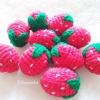 สตรอเบอรี่ถักโครเชต์ strawberry fruit crochet
