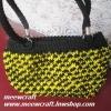 กระเป๋าถือเชือกร่มสตอเบอรี่ รหัสPB007 ก้นกระเป๋า 8.5x24ซม. สูง 22ซม.