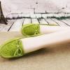 รองเท้าหุ้มส้น ผู้หญิง รองเท้าหนังแท้ รองเท้าคัทชู ใส่เที่ยว ใส่ทำงาน หนังแท้ ใส่สบาย ยึดหยุ่นสูง สีเขียว ปั้มลายดอกไม้ 967424_3