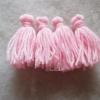 พู่สีชมพูอ่อนโครเชต์ ไหมพรม 4 ply tassel crochet acrylic yarn 4 ply
